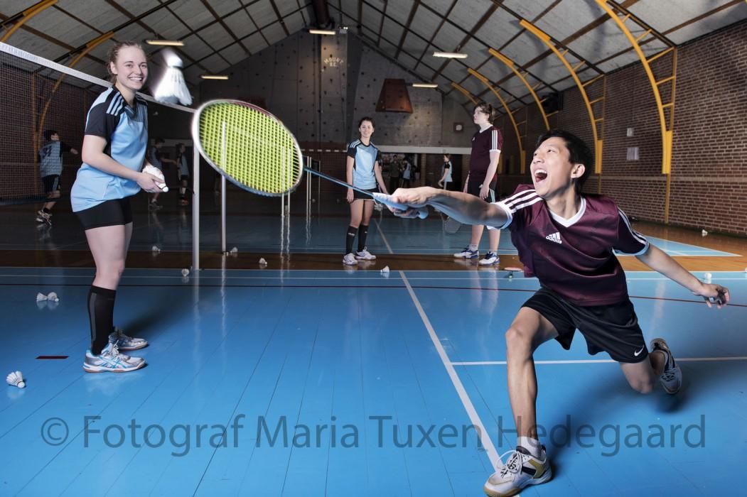 Brøruphus Efterskole. Badminton.