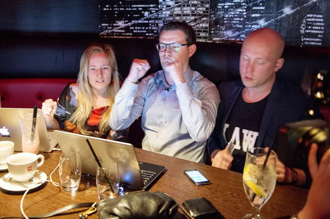 Christian Rabjerg Madsen har netop fået de afgørende tal, der fortæller ham, at han er blevet valgt ind i Folketinget for Socialdemokraterne