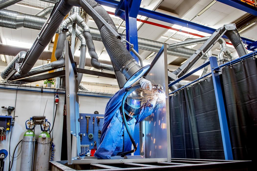 Industrivirksomheden Gram ved Haderslev, der har stor vækst og store ambtioner om væsentlig eksport af udsugnings- og ventilationsprodukter.
