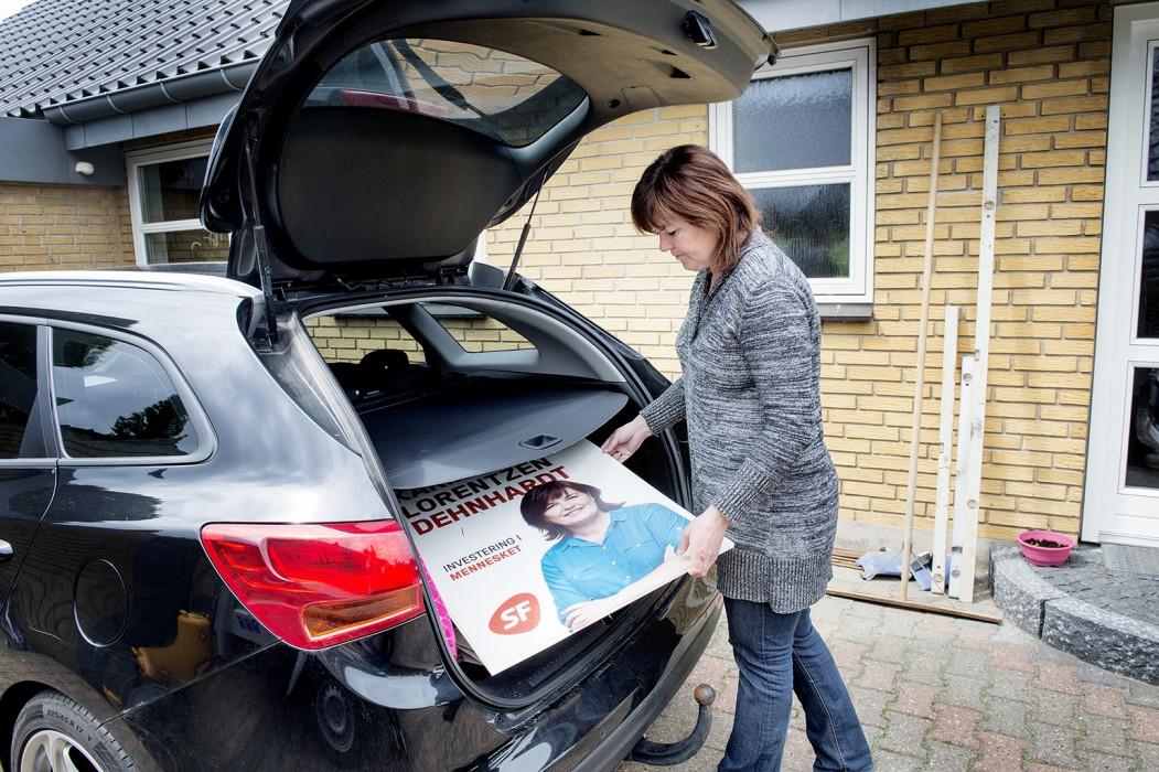 Karina Lorentzen Dehnhardt (SF) dagen efter folketingsvalget, hvor hun ikke blev valgt ind.