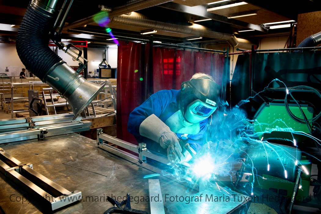 """Metalvirksomheden """"Weissenborn A/S"""" i Vejle. (Fotograferet til Dagbladet Børsen)"""